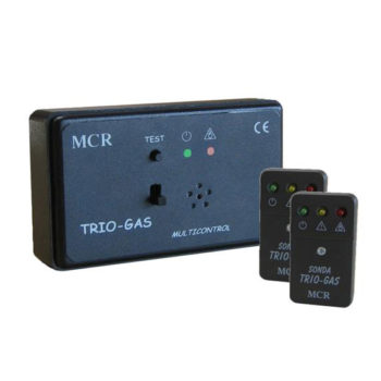 RIVELATORE TRIO-GAS 2 SONDE DA PARETE MCR
