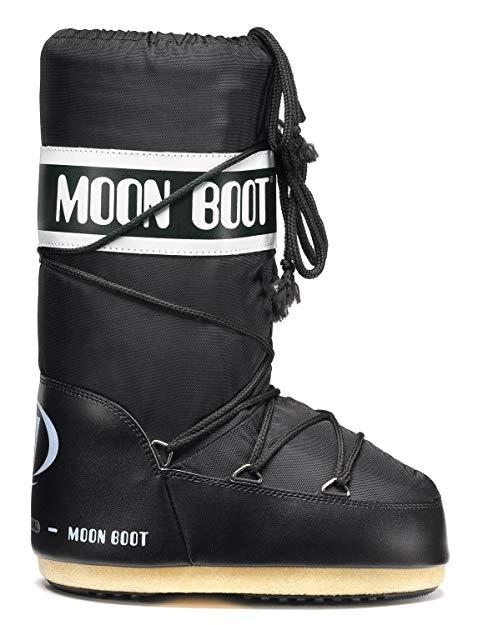 Bambini Moon-boot Nylon 14004400 001 BLK MOON B. Stivali Invernali Unisex