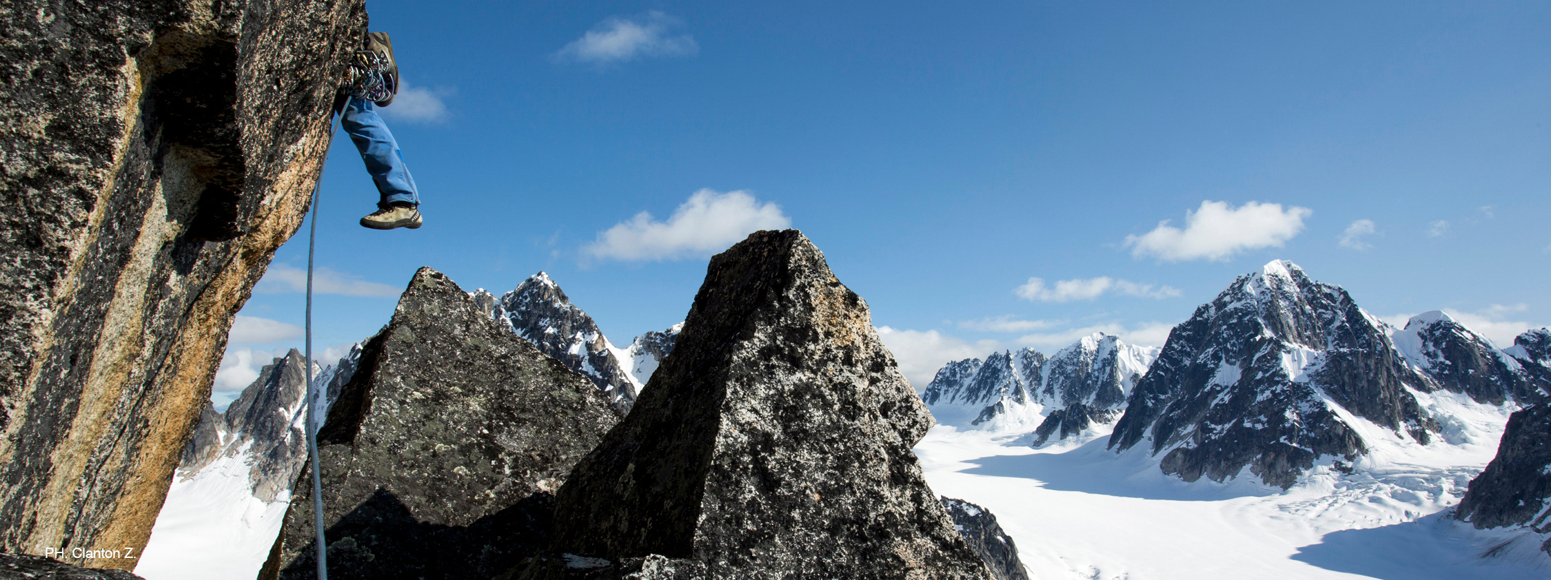 James Gustafson on the first ascent of The Two Towers on the The Dragon's Spine in the Alaska Range